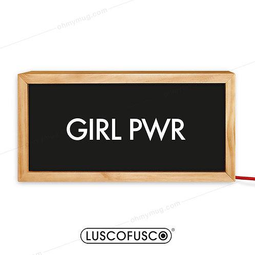 CAJA DE LUZ MADERA GIRL PWR