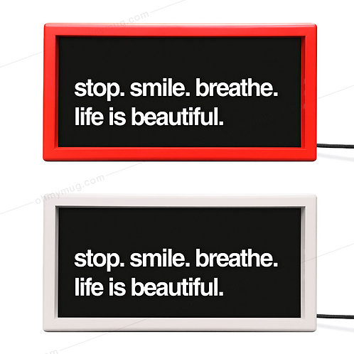 CAJAS DE LUZ COLOR STOP SMILE BREATHE