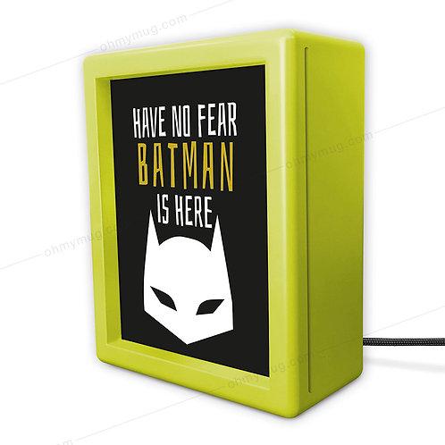 LIGHTBOX INFANTIL VERDE BATMAN IS HERE