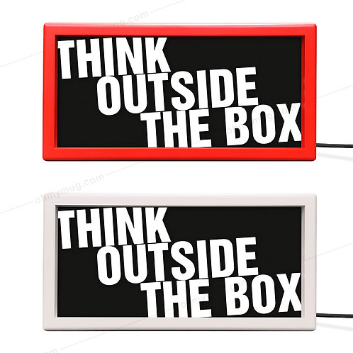 CAJA DE LUZ COLOR THINK OUTSIDE