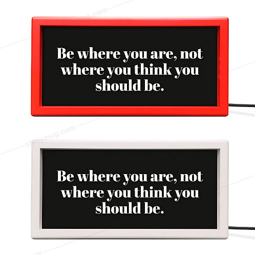 LIGHTBOX COLOR: BE WHERE YOU ARE