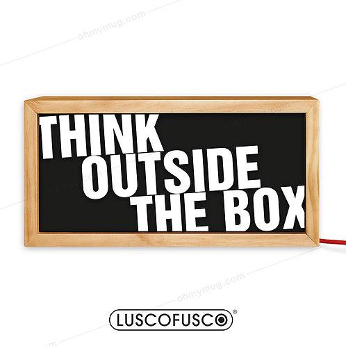 CAJA DE LUZ MADERA THINK OUTSIDE THE BOX