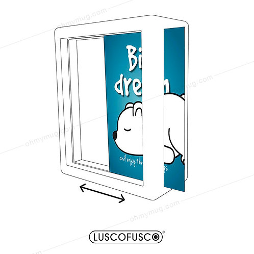 LIGHTBOX LUSCOFUSCO PANTALLA BIG DREAM AND ENJOY AZUL