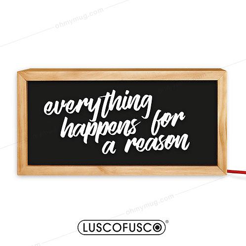 CAJA DE LUZ MADERA EVERYTHING HAPPENS