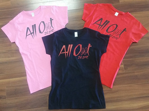 WOMENS ALL OUT 2017 TEE