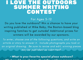 """""""I Love the Outdoors"""" Writing Contest for Children Ages 5-12"""