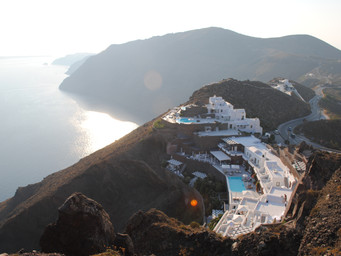 Exploring Abroad Series: Cliffside Hike in Santorini, Greece