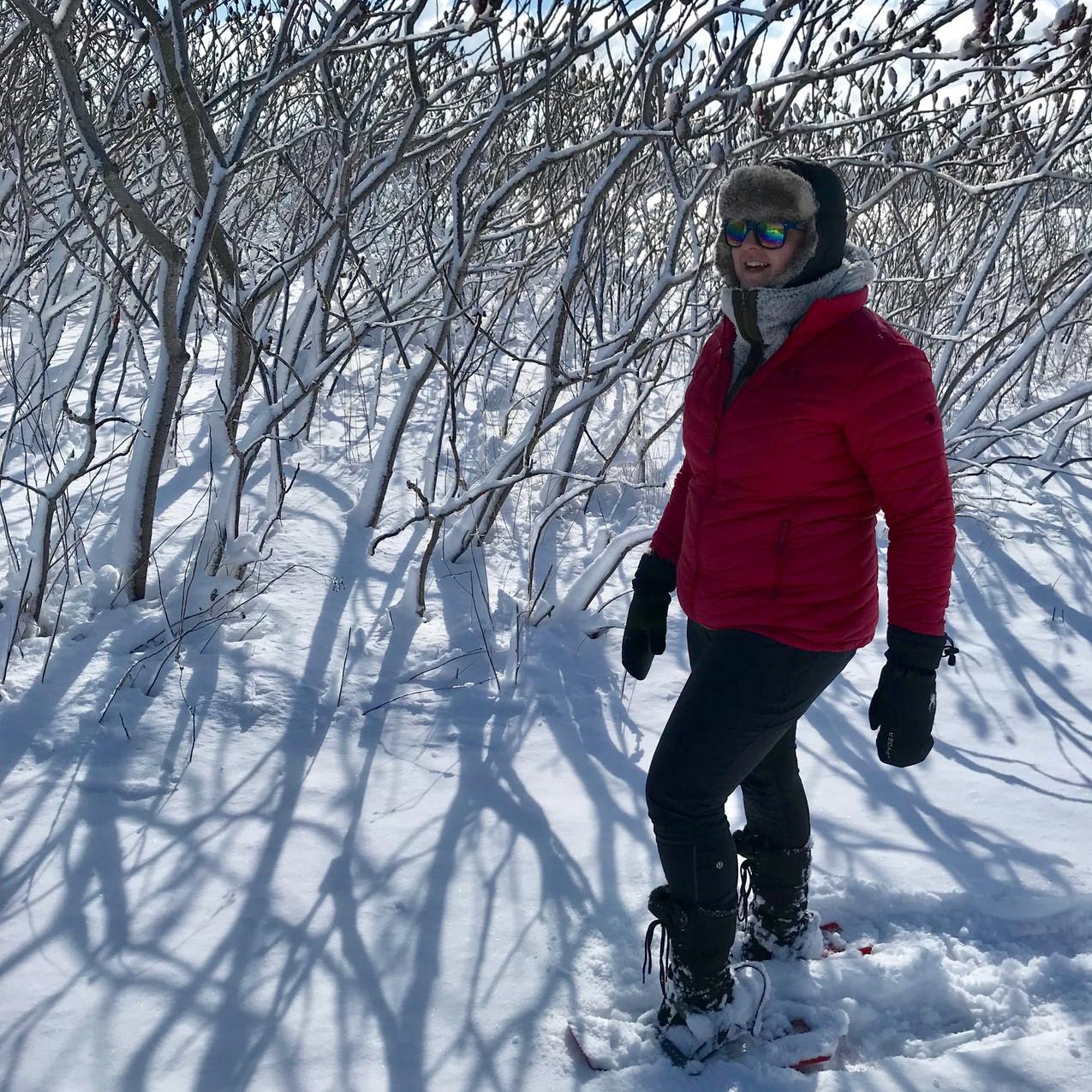Snowshoeing at Webb