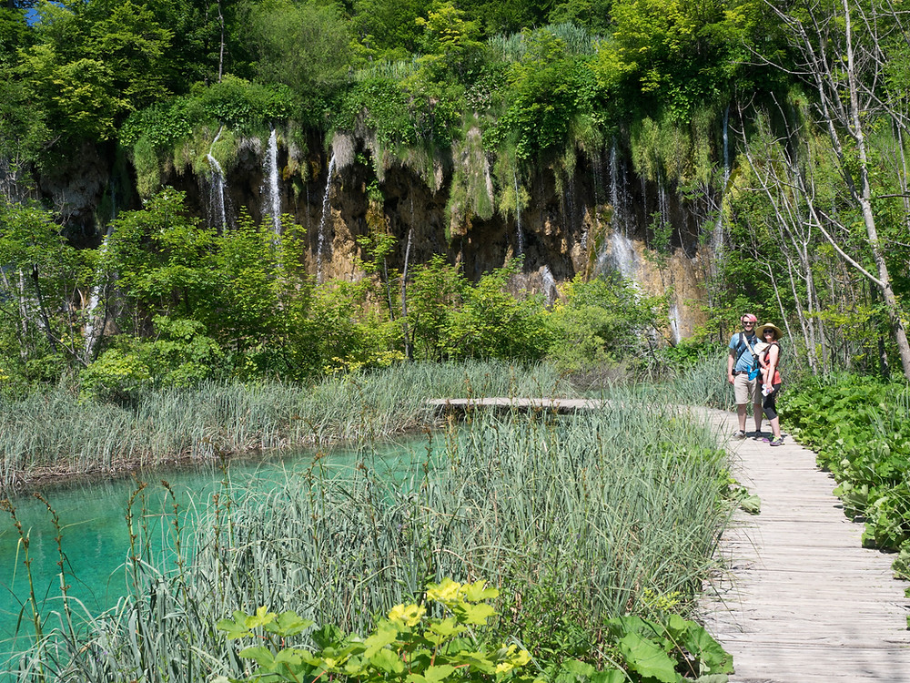 Our family at Plitvice Lakes