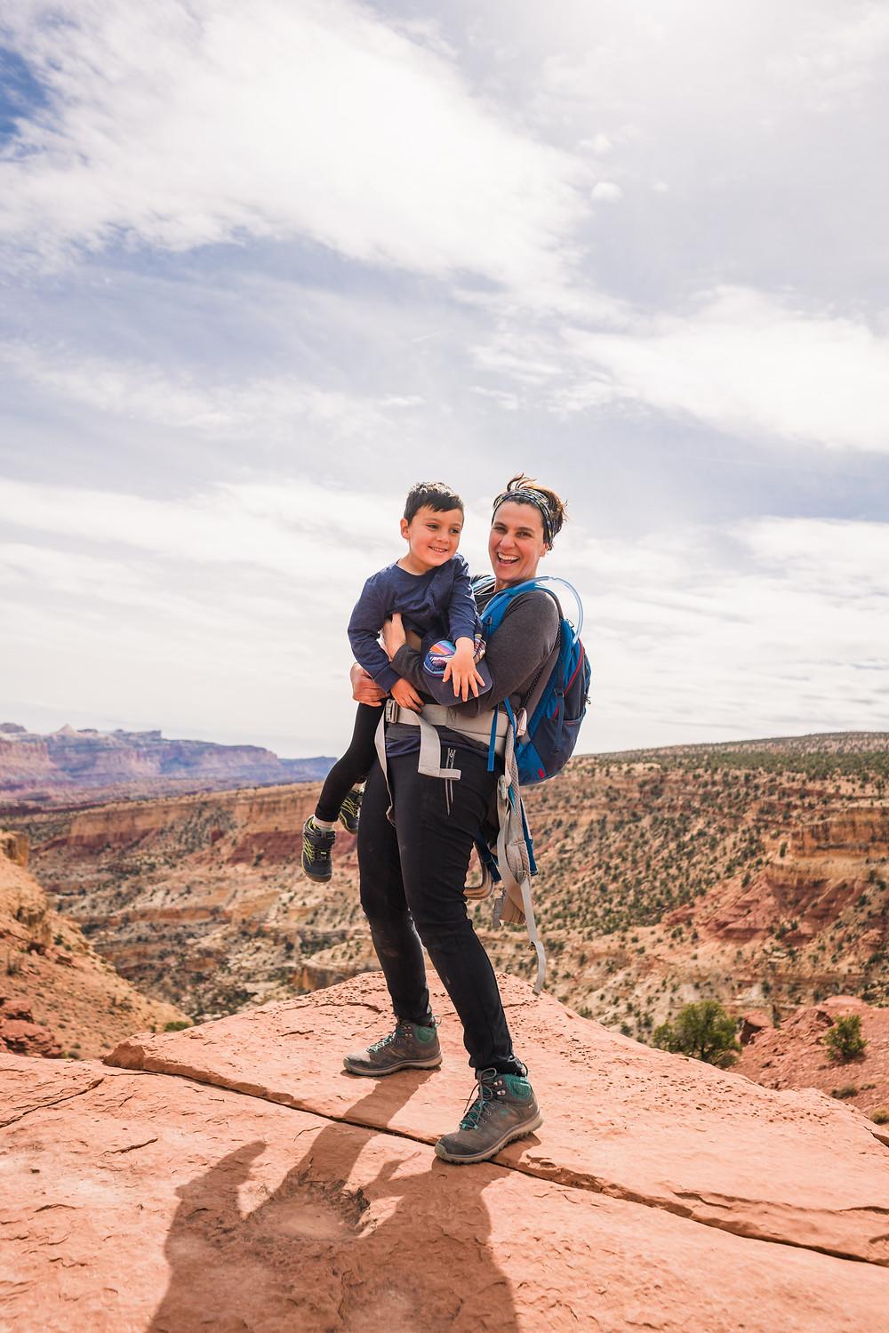Author Shanti Hodges and her son Mason
