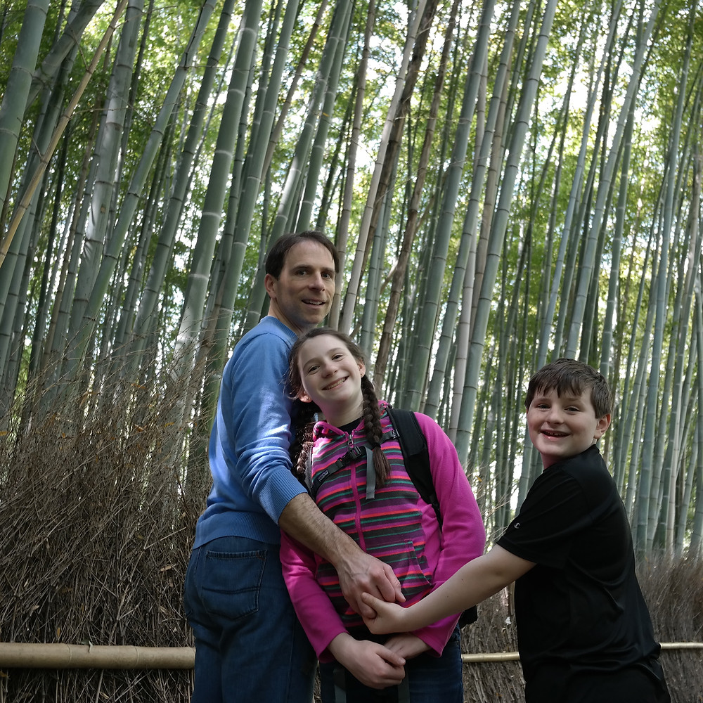 Happy Family at the Sagaro Bamboo Forest