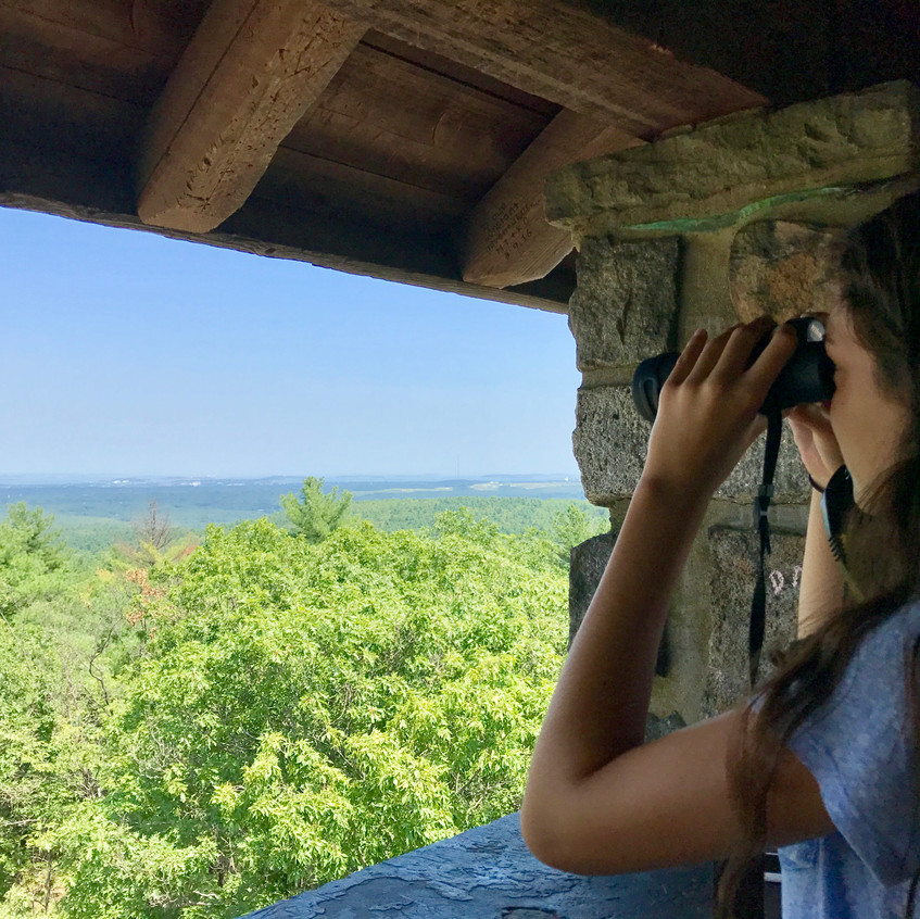Binoculars for Great Blue Hill
