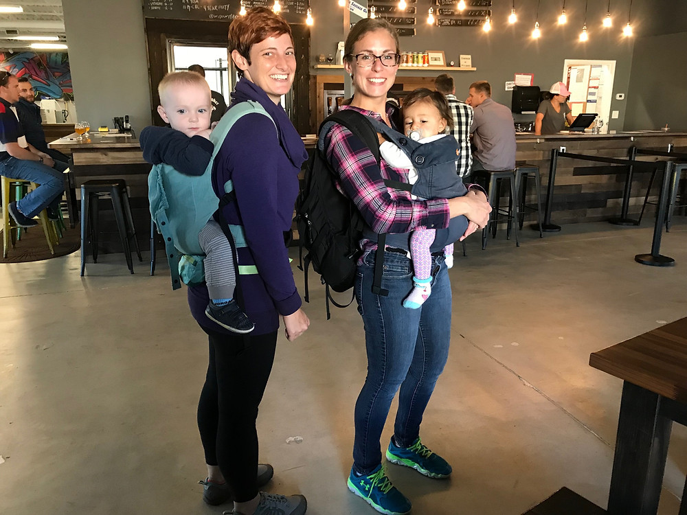 Photo: Babywearing is encouraged at breweries!