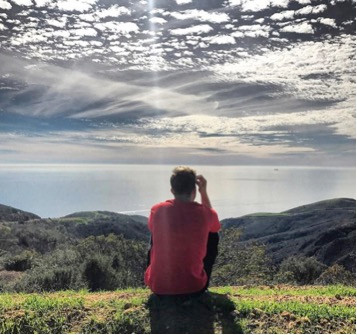 Hiking Malibu, overlooking ocean