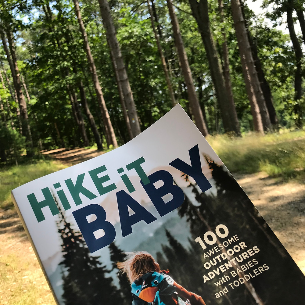Hike it Baby book on the trails at Ward Reservation