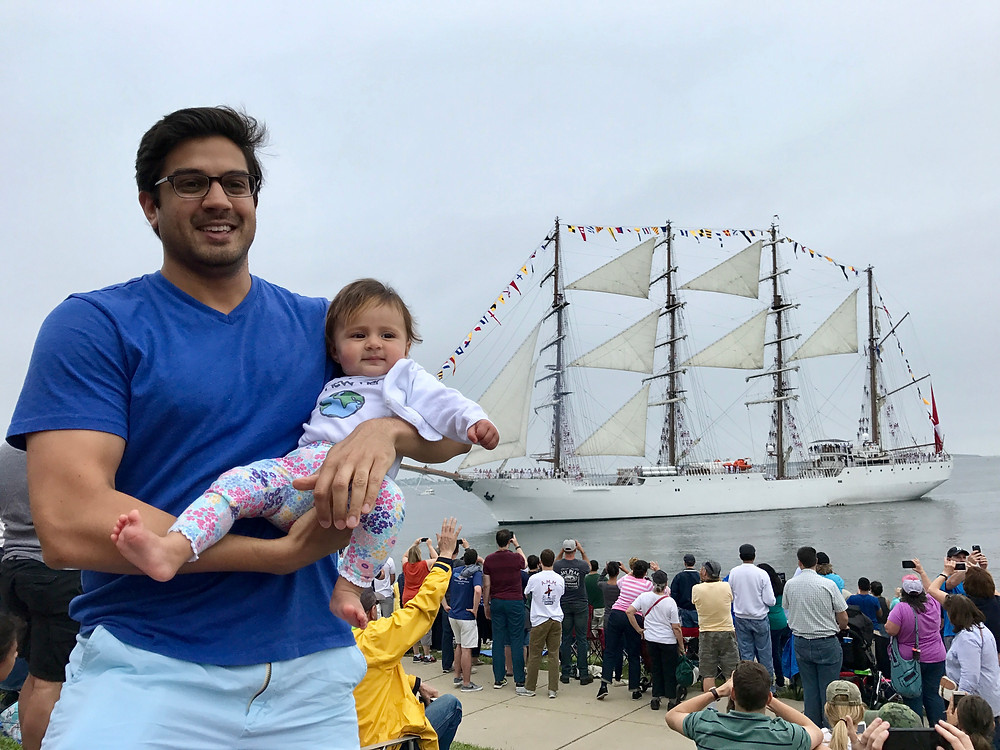 Tall Ships Boston 2017 at Castle Island with Wike Baby