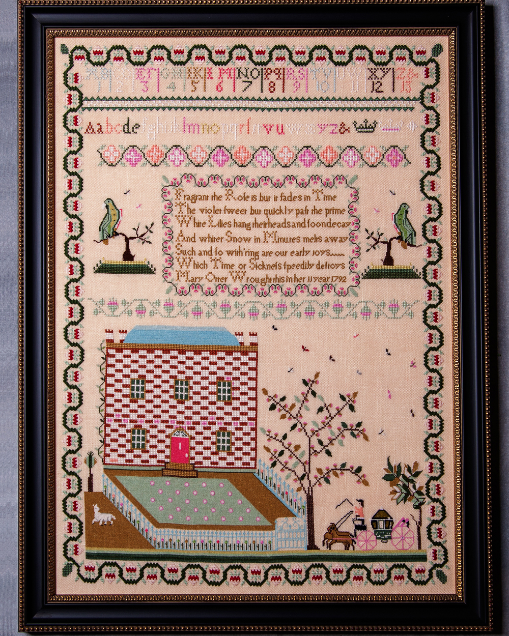 Mary Otter 1792 Sampler