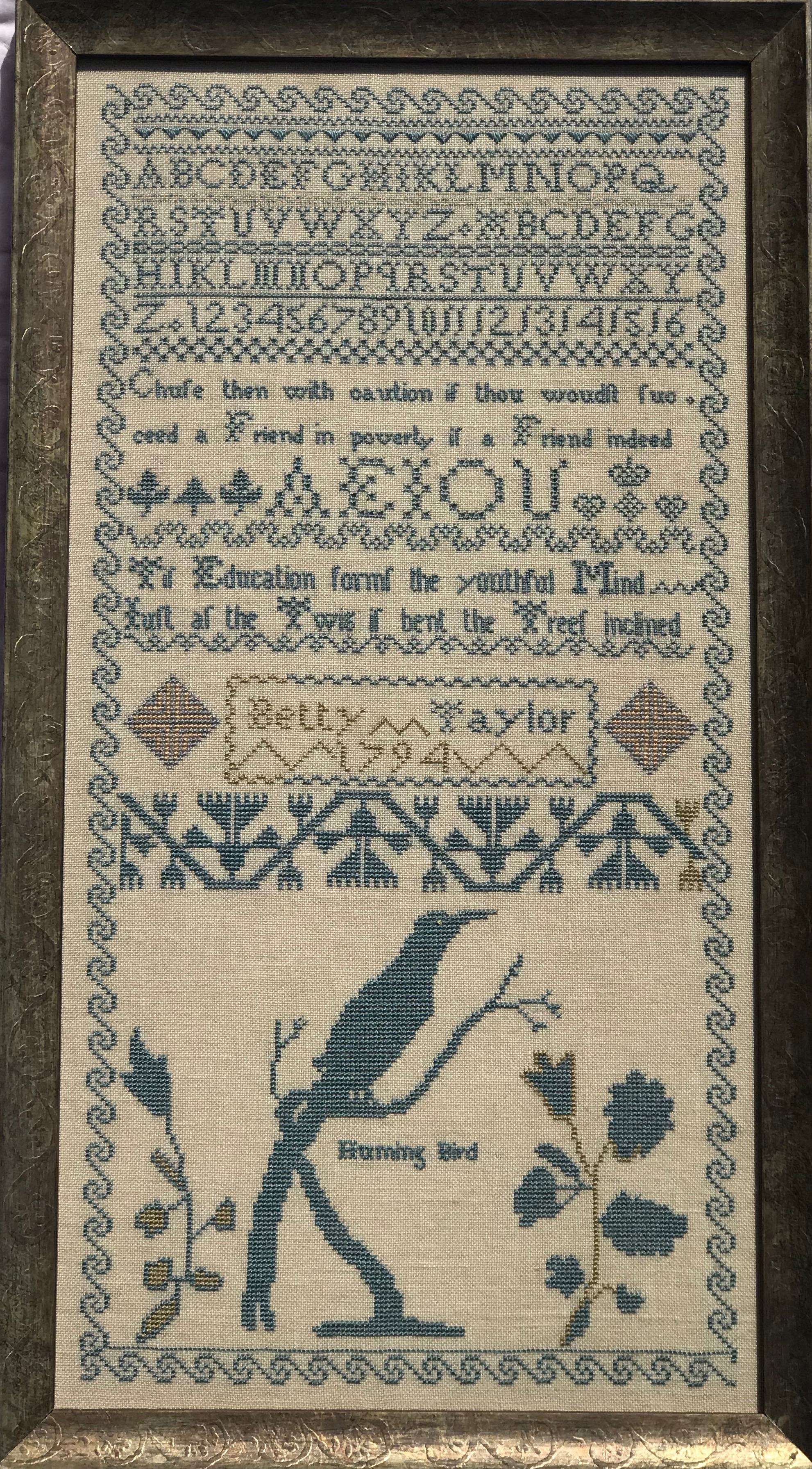 Betty Taylor 1794 Sampler