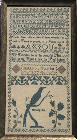 Betty Taylor 1794 Sampler