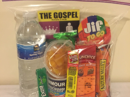 How To Make Snack Packs and Hygiene Kits For the Homeless by Travis Sharpe