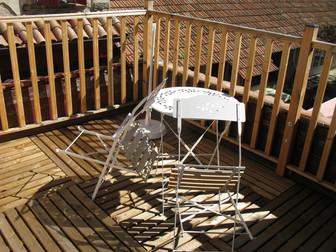 terrasse de la chambre Montségur