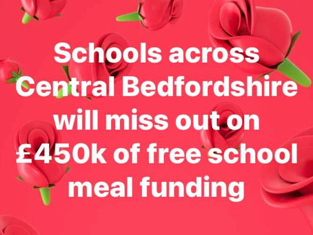 Government use out of date data to calculate Free School Meals - Central Beds schools affected