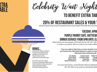 Extra Table host food pantry fundraiser
