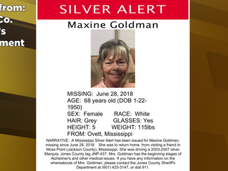 Jones Co. Sheriff's Dept. issues silver alert for Ovett woman
