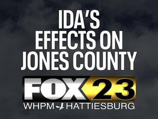 Ida makes her mark in Jones Co.