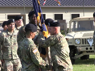 Change of Command at Camp Shelby