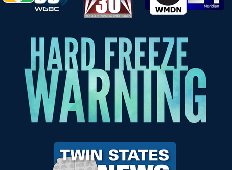 NWS issues hard freeze warning for Meridian area