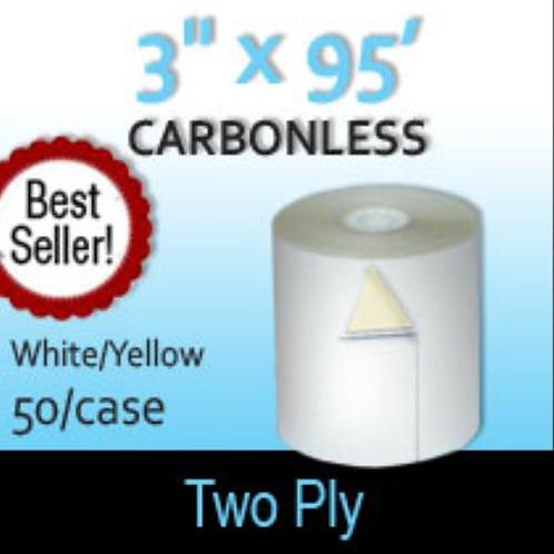 Two Ply White/Yellow Bond - Case of 50
