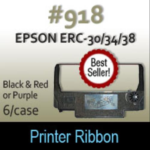 Ribbon for Epson Prep Printer (Black & Red) - Case of 6