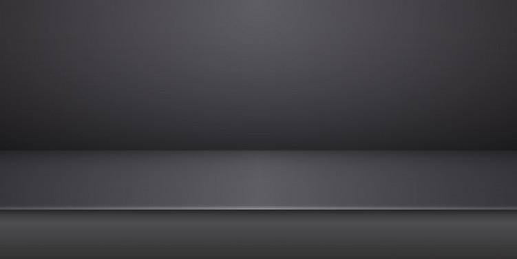 empty-black-studio-product-display-table