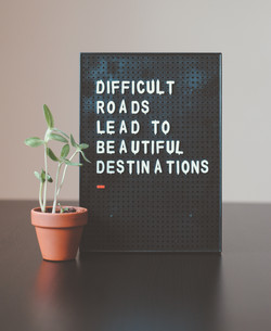 Difficult roads lead