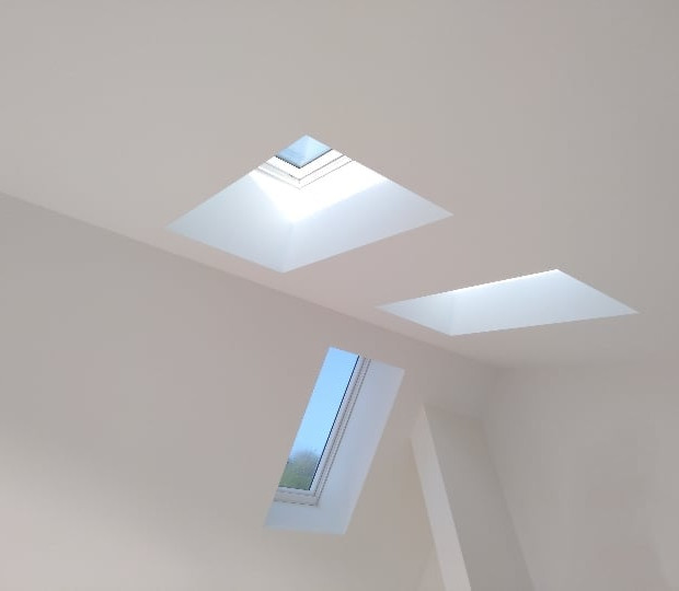 Multiple Skylight Installation