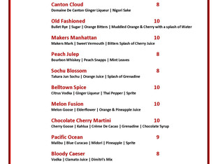New Specialty Cocktails