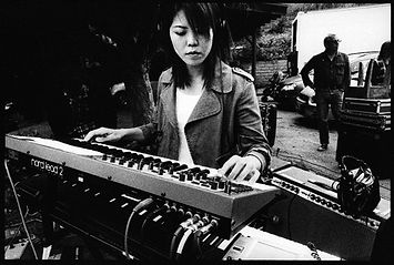Motoko Honda on Keyboard and Mike Watt, Photo by Peak Ness
