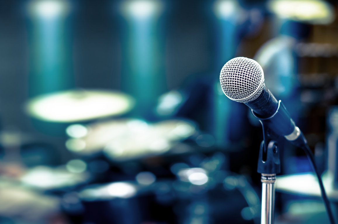 Close up von Mikrofon