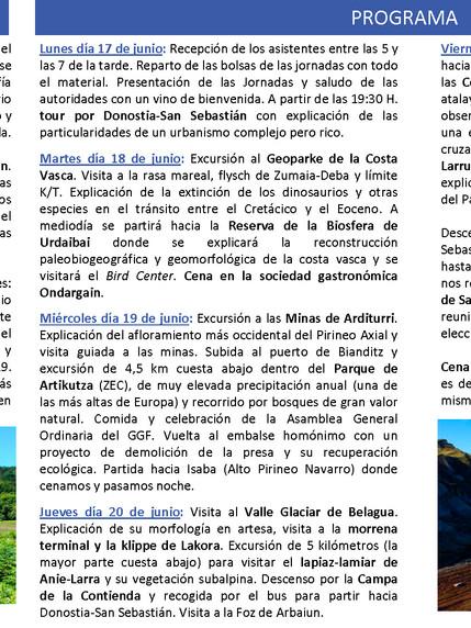 Astigarraga participará en la edición XXXIV de las Jornadas de Campo de Geografía Física, que se cel