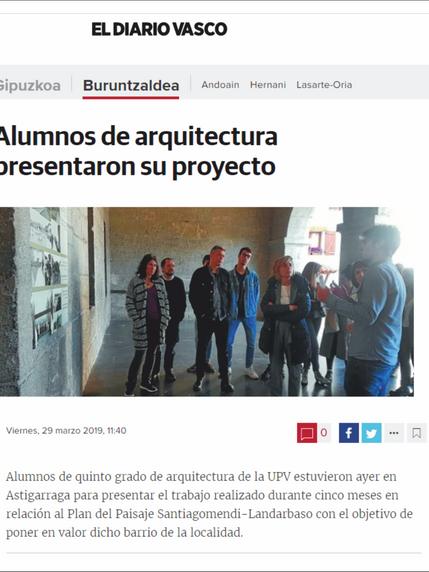 Alumnos de Arquitectura presentaron su proyecto en Astigarraga