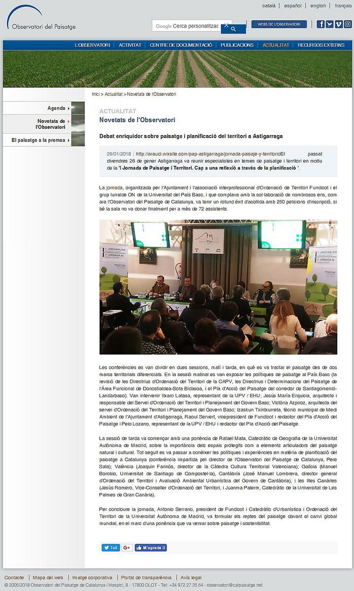 Debat enriquidor sobre paisatge i planificació del territori a Astigarraga