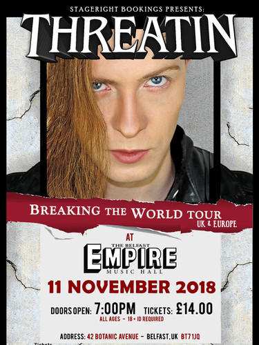 Belfast Empire Threatin Nov 11 Tour Post