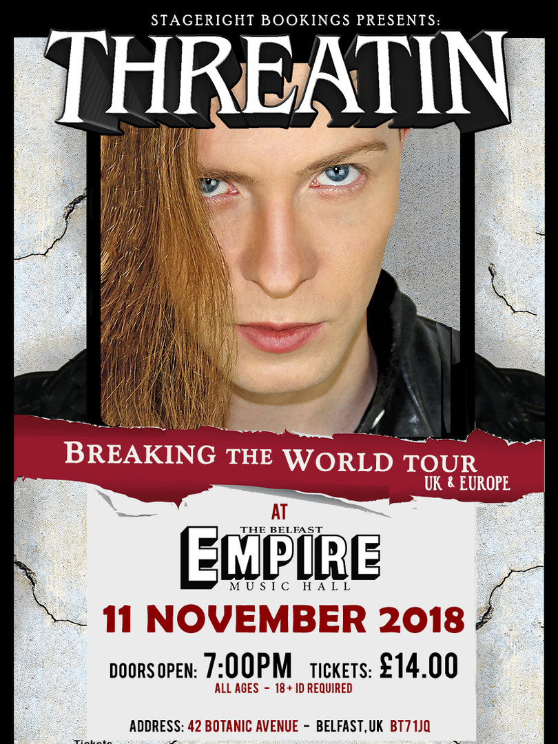 Belfast Empire Threatin Nov 11 Tour Post