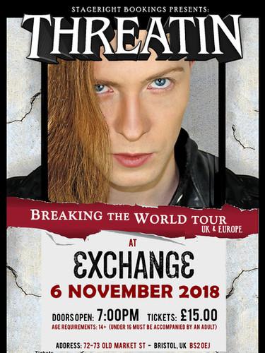 Exhange Threatin Nov 6 Tour Poster - A3.