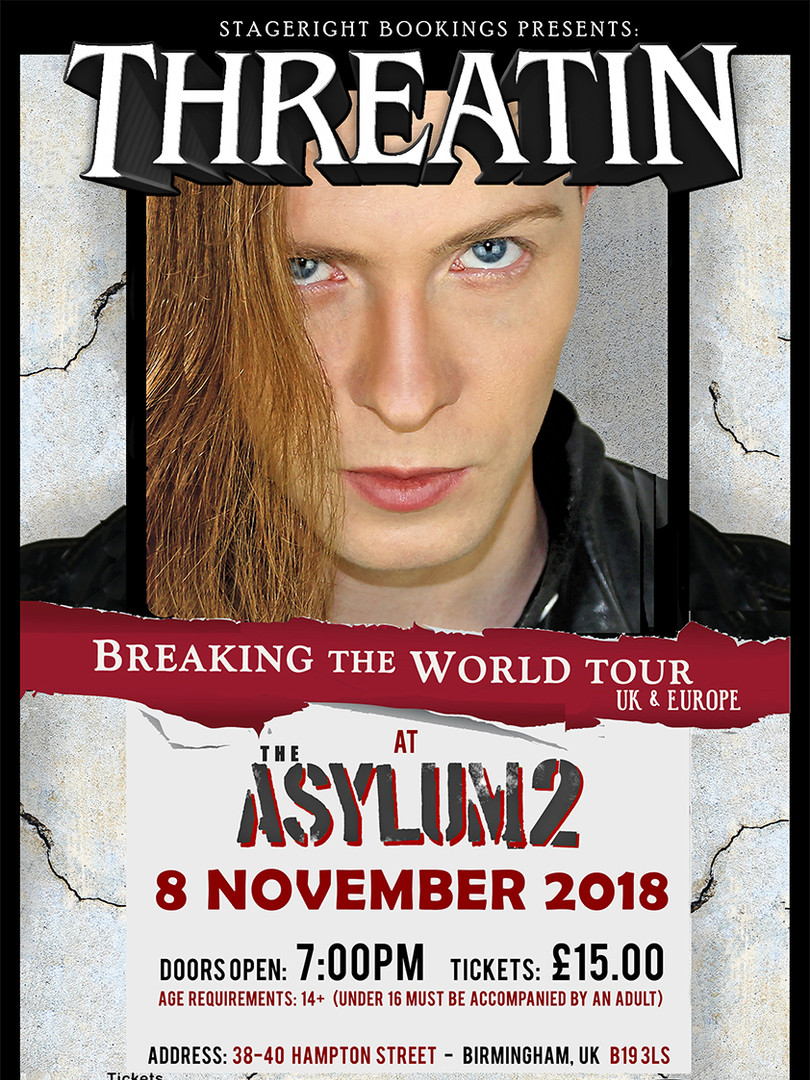 Asylum Threatin Nov 8 Tour Poster - A3.j