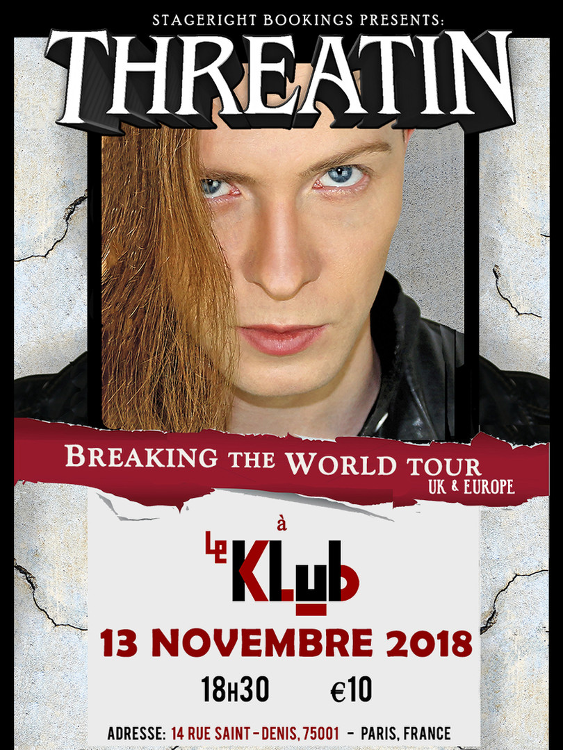 Le Klub Threatin Nov 13 Tour Poster - A3