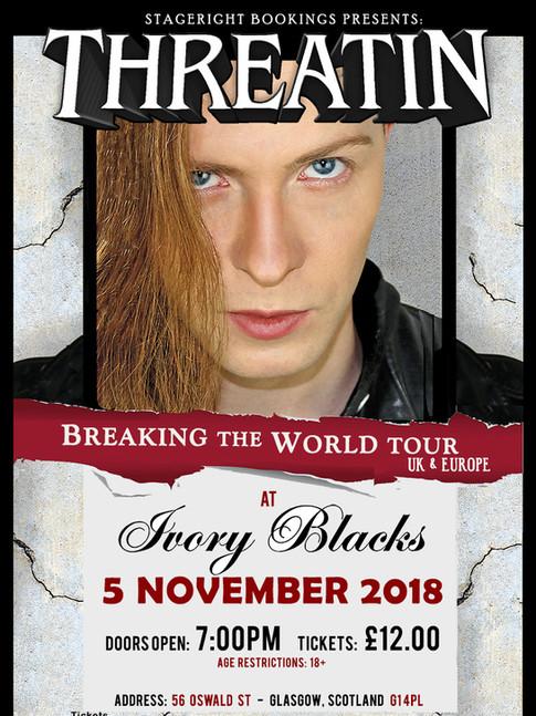 Ivory Blacks Threatin Nov 5 Tour Poster