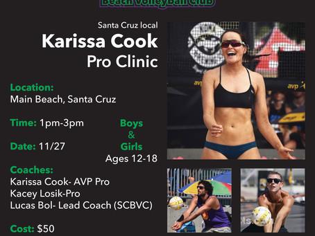 11/27 Pro Clinic Featuring Karissa Cook