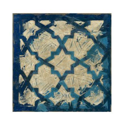 Stained Glass Indigo I - Canvas Art